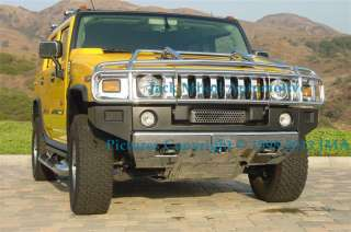 MASSIVE CHROME FRONT BRUSH GRILLE GUARD HUMMER H2