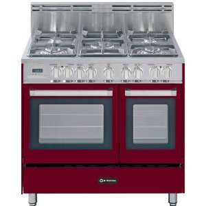 36 Double Oven Dual Fuel Range 5 Sealed Gas Burners 2.4 cu. ft. Oven