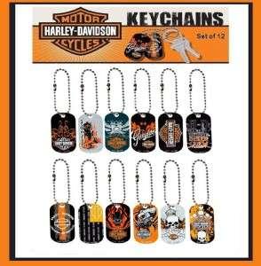 Licensed Harley Davidson Keychains ~ Dog Tags Set 2