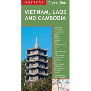 Vietnam, Laos and Cambodia Travel Map, Globetrotter: Travel & Nature