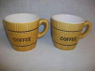 Lot of 2 ROYAL SEALY JAPAN Coffee Mug Cup Wood Grain