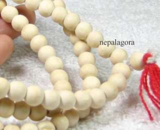 God Buddha Mala Wood bead prayer meditation peace necklace India NEPAL