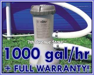 New Intex 1000 gph Easy Set Swimming Pool Filter Pump 078257566372