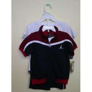 Short Sporty Infants Boy Red/Black/White Color 3 PCS One Set New: Baby