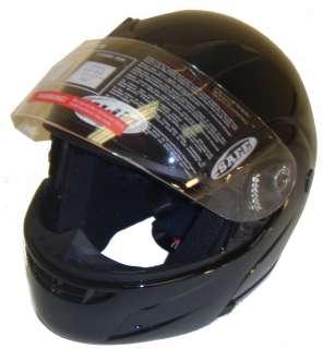 DOT Approved FLIP UP MOTORCYCLE STREET HELMET BLACK SM