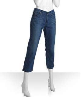 James Jeans blue stretch cotton Billie skinny cropped jeans