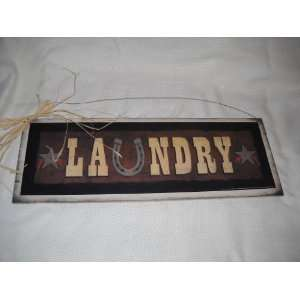 Western Laundry Room Wall Art Sign  Home & Kitchen
