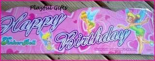 Tinkerbell Pink Happy Birthday Banner