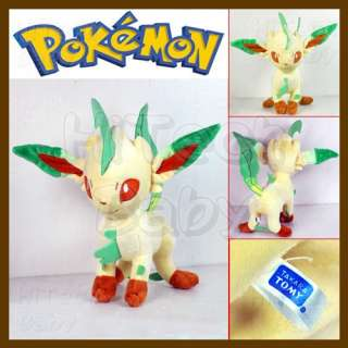 Takara Tomy POKEMON #470 Leafeon Soft Plush Stuffed Toy 9 Doll