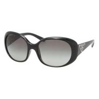 NEW Prada SPR27L Sunglasses SPR 27LS Gloss Black 1AB3M1