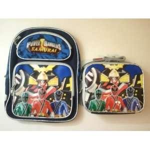 Power Rangers Samurai Sentai School 16 Large Backpack & Lunch Bag Set