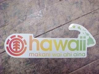 Rare Element Skateboards Limited Edtn HAWAII Long Sticker MAKANI WAI