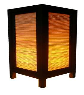 OLD DESIGN ASIAN ORIENTAL BAMBOO TABLE LAMP Small Size