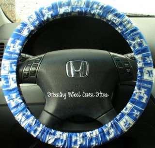 Car Truck Universal Grip Steering Wheel Cover Univ of Kentucky UK Blue