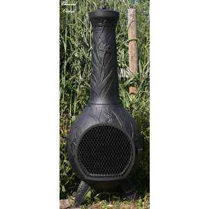 Blue Rooster Orchid Style Chiminea   Charcoal