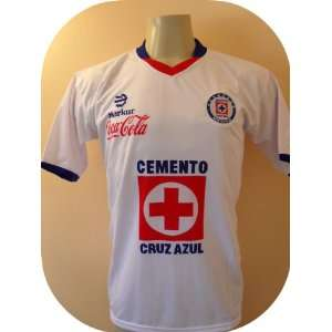 CRUZ AZUL MEXICO away SOCCER JERSEY SIZE LARGE .NEW .STOCK LIQUIDATION