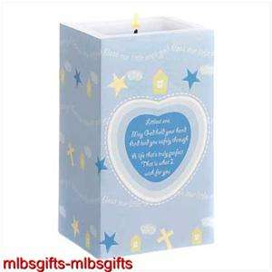 Baby Boy Nursery Blessing Prayer Poem Vanilla Candle