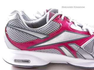 Tone Silver/Pink/White Fitness Walking Trainers Women Shoes