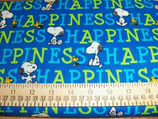 yard Peanuts Snoopy & Woodstock Happiness Fabric