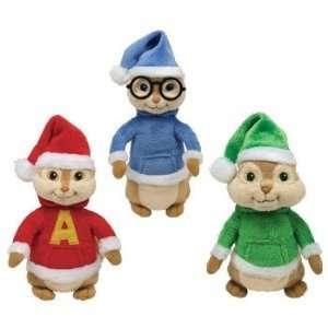 Ty Beanie Babies   Alvin & the Chipmunks Set of 3 (Alvin